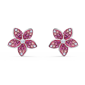SWAROVSKI Tropical Flower Pierced Earrings