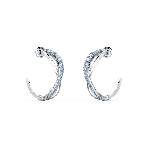 SWAROVSKI Twist Hoop Earrings