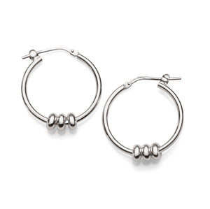 Silver lucky ring hoops 20mm