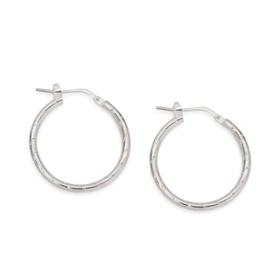 Silver line pattern hoops 20mm