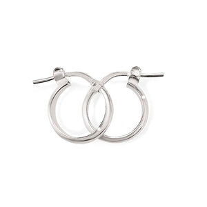 Silver half round polished hoops 10mm