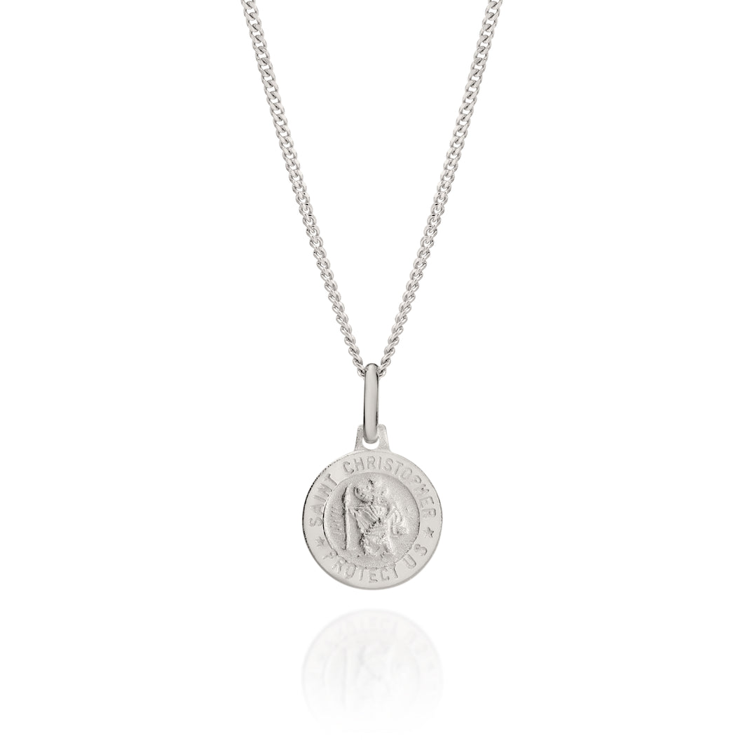 Silver 12mm St Christopher pendant
