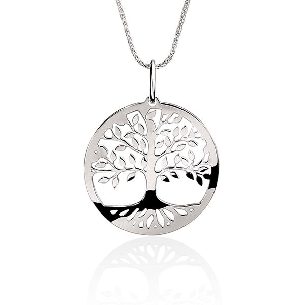 Silver 25mm tree of life pendant