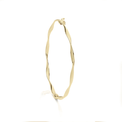 9ct twist hinge bangle