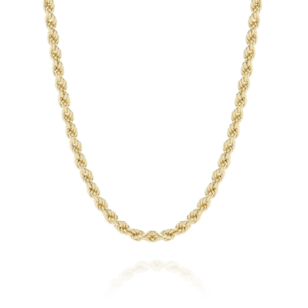 9ct gold rope necklace 42cm