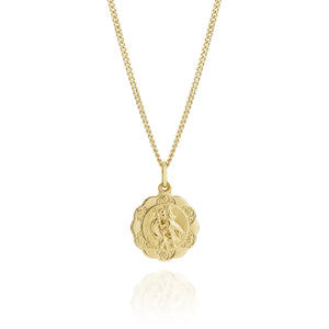 9ct gold St Christopher pendant 16mm