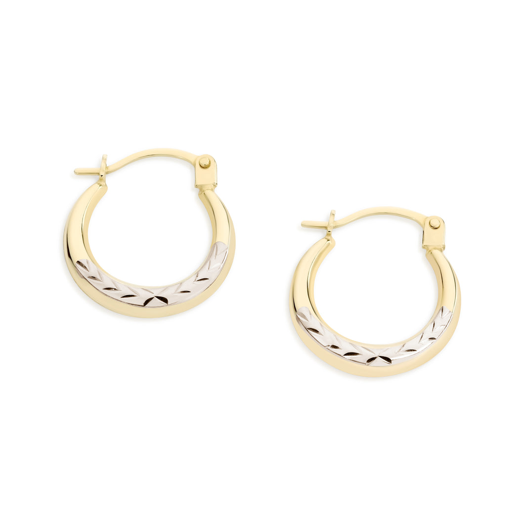 9ct gold hoops 10mm