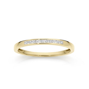 9ct gold 0.10ct diamond ring