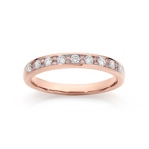 9ct rose gold 0.33ct Australian pink diamond ring