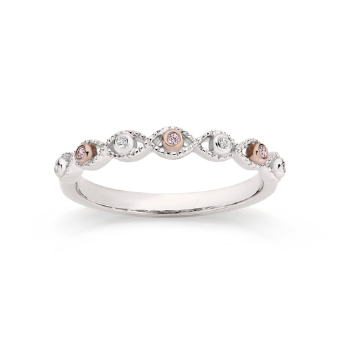 9ct white gold Australian pink diamond ring