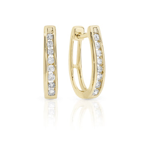 9ct gold 1/4ct diamond earrings