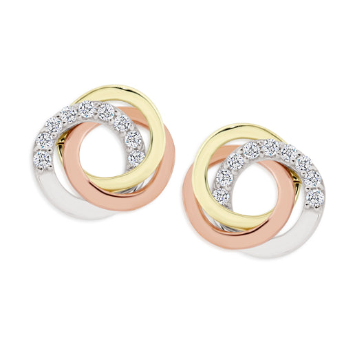 9ct gold love knot studs