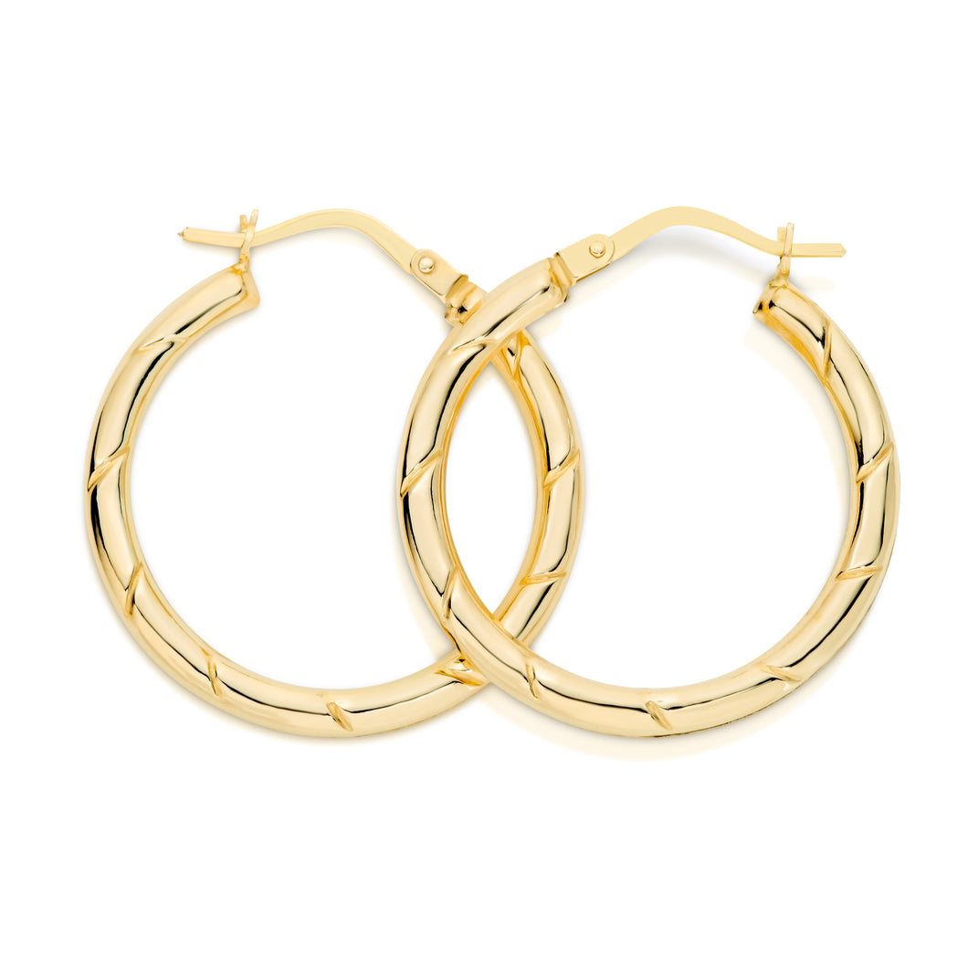 9ct gold hoops 20mm