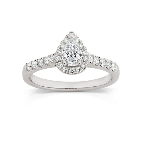 18ct white gold 0.71ct diamond ring