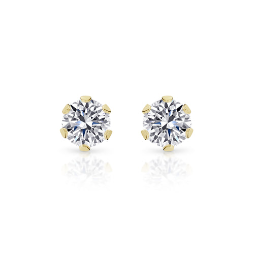 9ct gold stone set studs 3mm