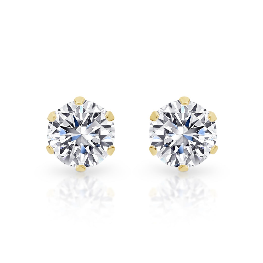 9ct gold stone set studs 4mm