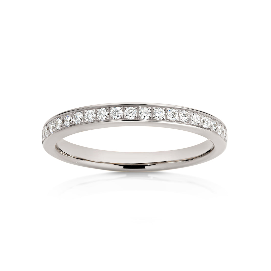 18ct white gold 0.22ct diamond wedding ring