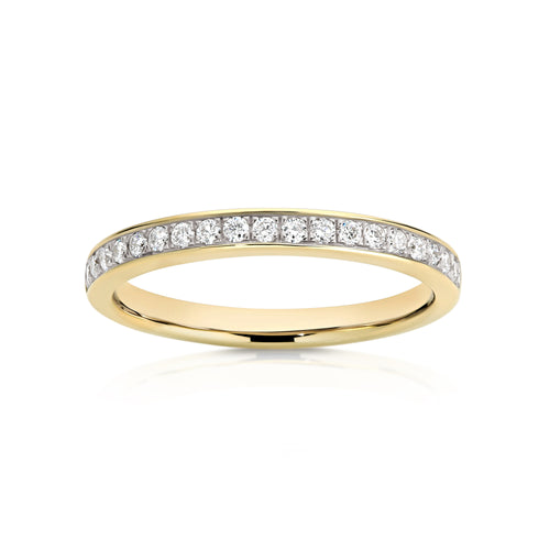 18ct gold 0.22ct diamond wedding ring