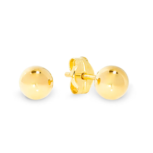 9ct gold 4mm ball studs