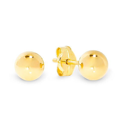 9ct gold 5mm ball studs