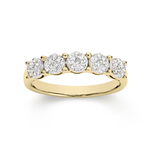 9ct 0.50ct diamond ring
