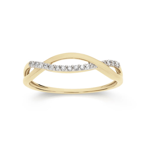 9ct 0.07ct diamond ring