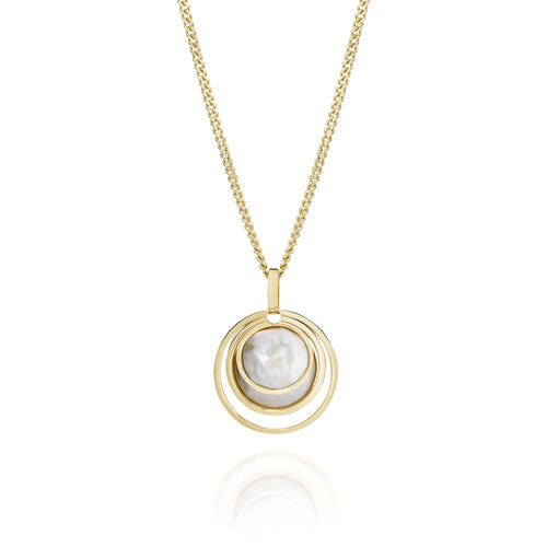 9ct gold freshwater pearl pendant