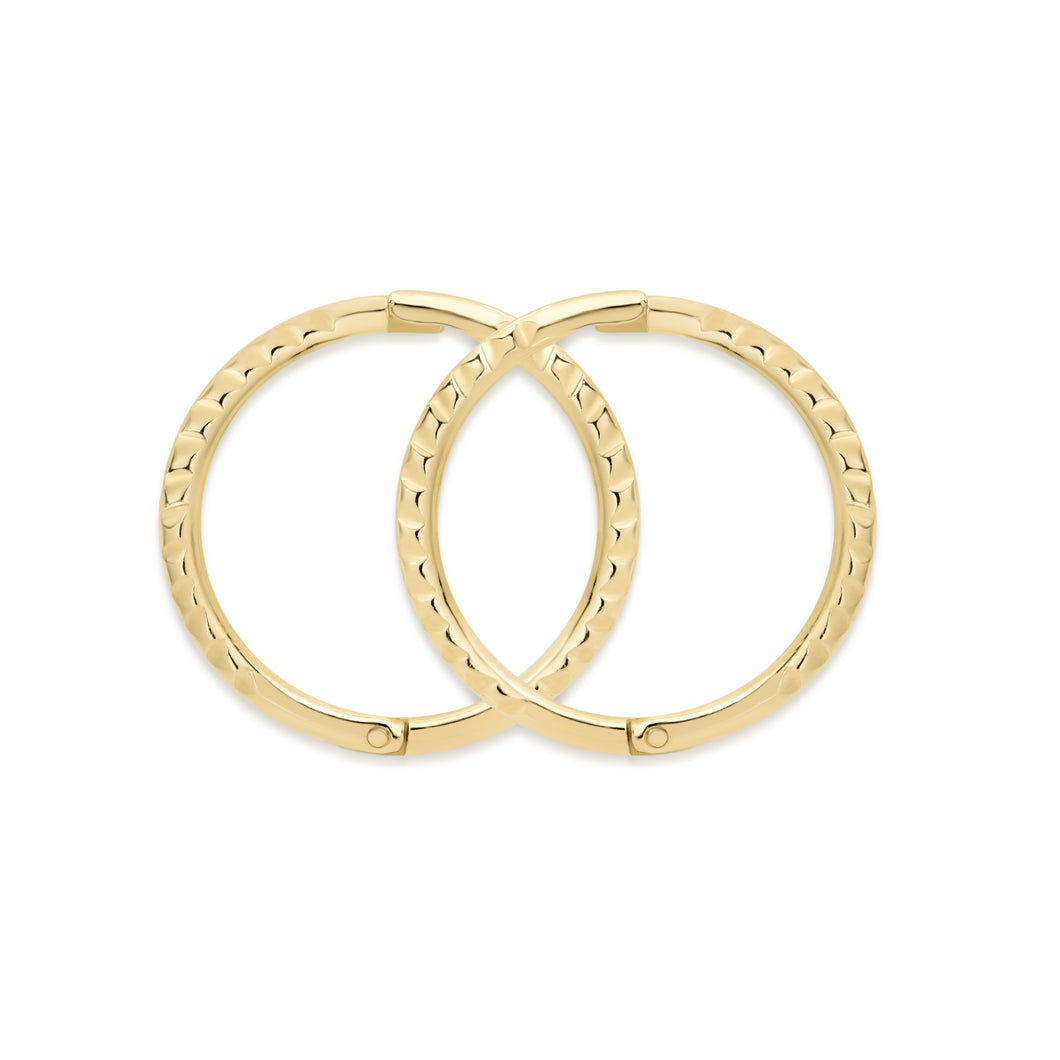 9ct gold small twist gold sleepers