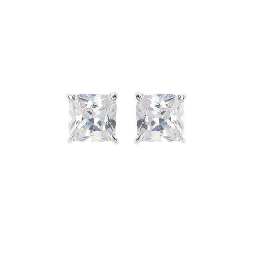 GEORGINI Sterling Silver Cubic Zirconia 5mm Stud Earrings