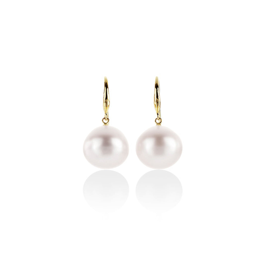 9ct gold South Sea pearl earrings