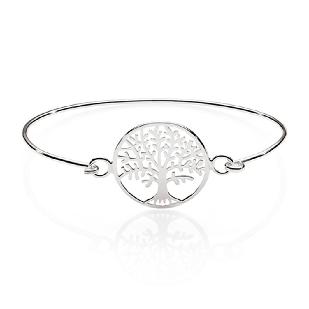 Silver tree of life bangle