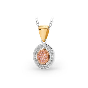 9ct gold Australian pink diamond pendant