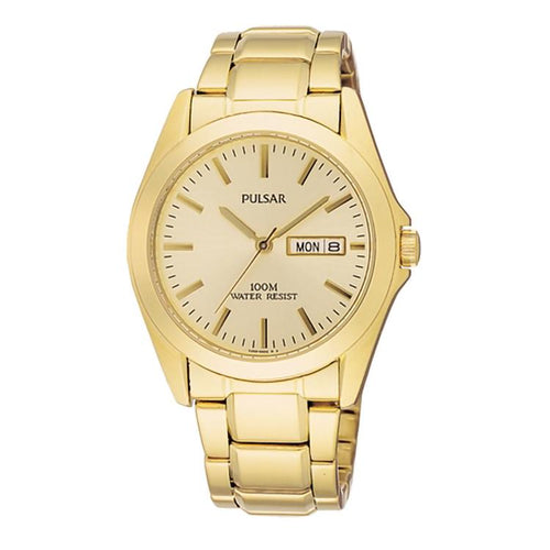PULSAR Gents Day Watch, 100m