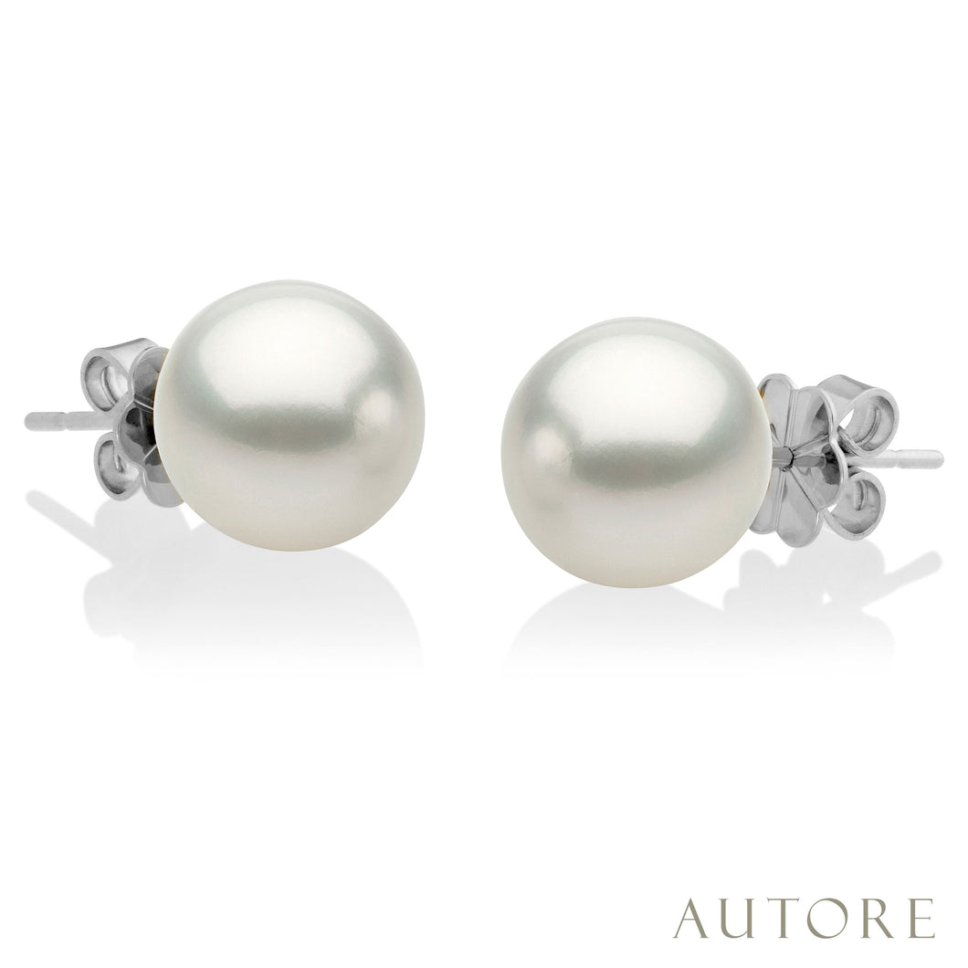 AUTORE 18ct white gold 9mm South Sea pearl studs
