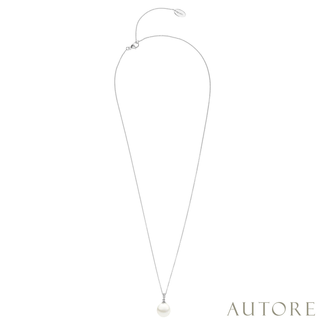 AUTORE 10mm South Sea pearl and diamond pendant