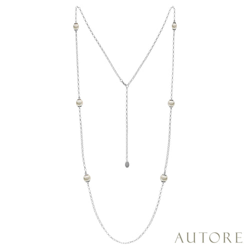AUTORE Necklace featuring 9mm and 10mm South Sea pearls
