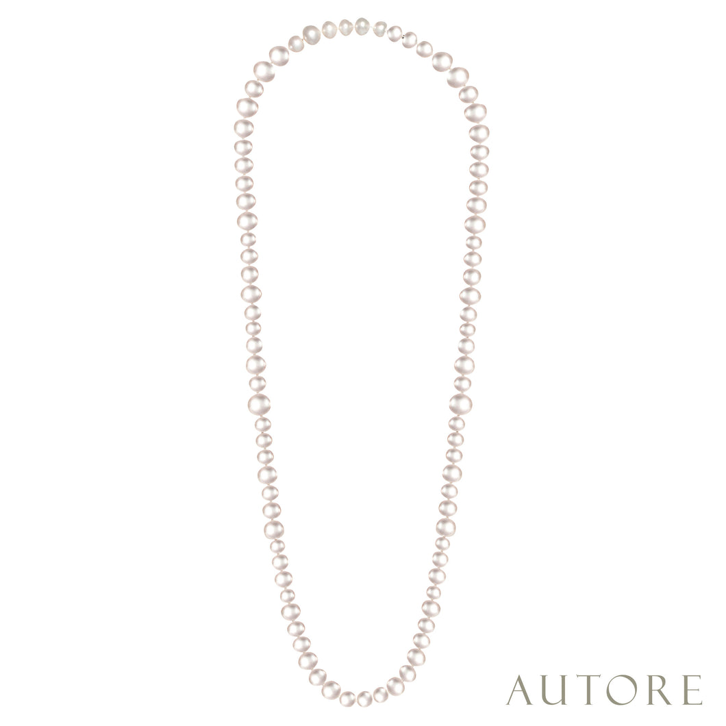 AUTORE Strand necklace with 8-14mm South Sea pearls