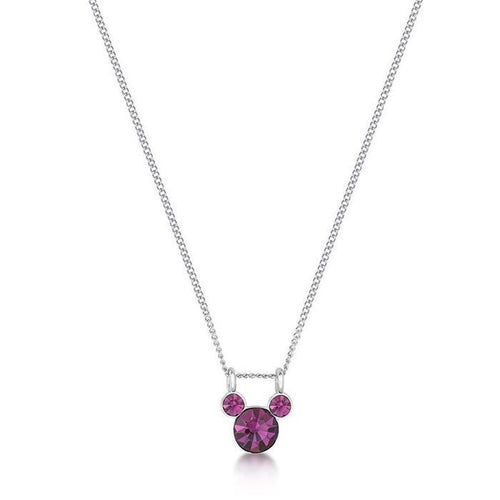 DISNEY COUTURE KINGDOM - Mickey FEBRUARY Birthstone Necklace