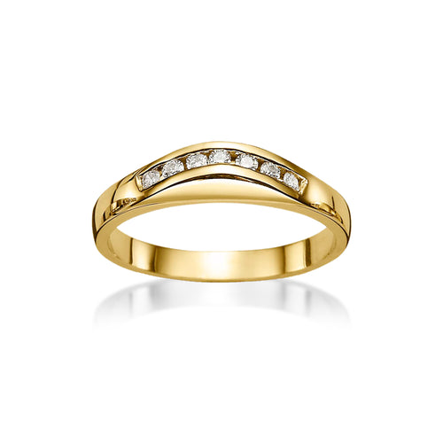 18ct gold 0.14ct diamond ring