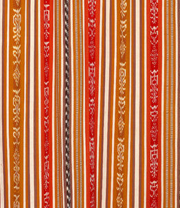 Mustard/Red Ikat Fabric by the Yard FY03