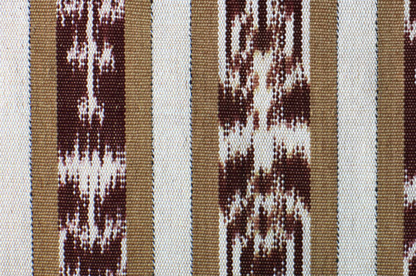 Guatemalan Coffee/Cream Ikat Fabric By The Yard FY06