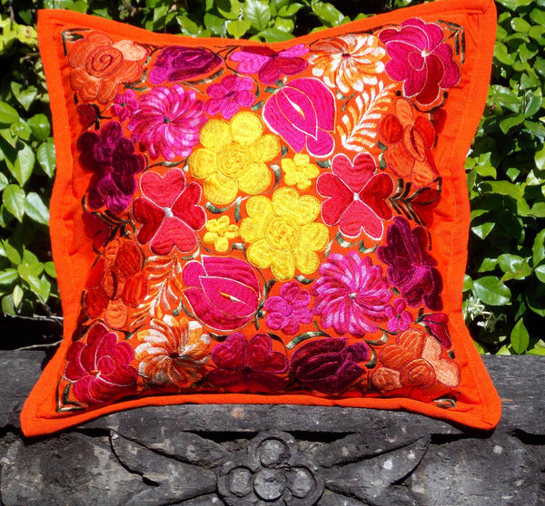 Flores Orange Pillowcase PCF13
