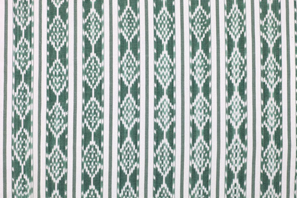 Green/White Ikat Fabric By The Yard FY15