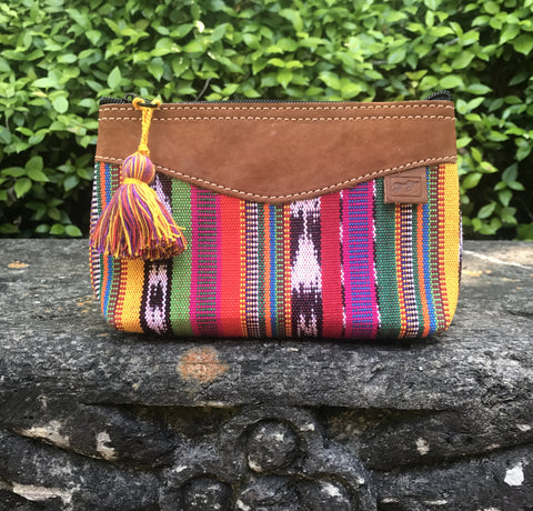 Luisa Fiesta Stripe Cosmetic Bag with Tassel Pull-CBS50