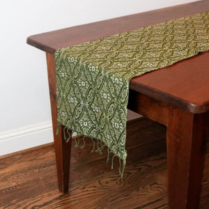 Contessa Green & Khaki Table Runner - RC201