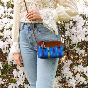 Pacific Blue Mayan Stripe Crossbody - SCB10