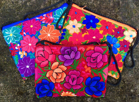 Flores Floral Cross-body Purse in Assorted Colors PBF01