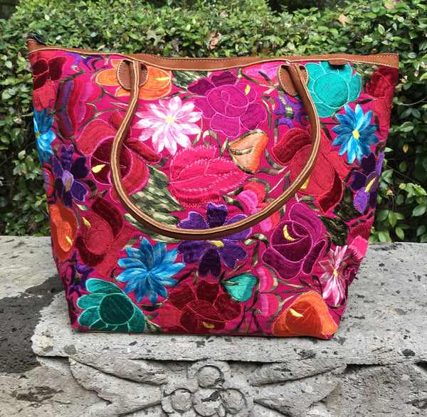 Flores Pink Tote TBF20