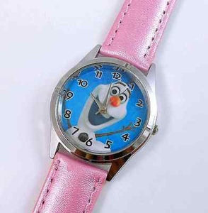"Frozen ""Olaf"" Pink Leather Watch...New..Great for Kids - Basket HIll Watches & Gifts"