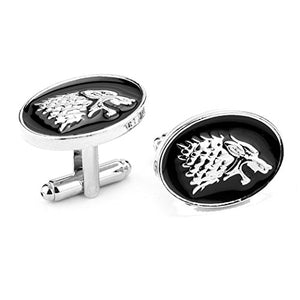 ", Game of Thrones ""Stark , Dire Wolf"" Cufflinks"
